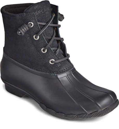 Sperry Saltwater Ladies Mid Boot Black